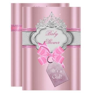 Carte Princesse de diadème de rose de fille de princesse