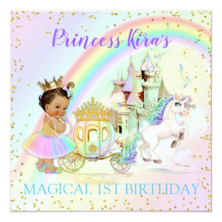 Carte Princesse magique Castle Carriage Unicorn