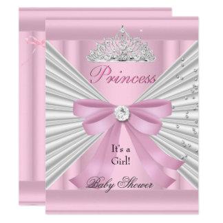 Carte Princesse rose blanche Tiara de fille de baby