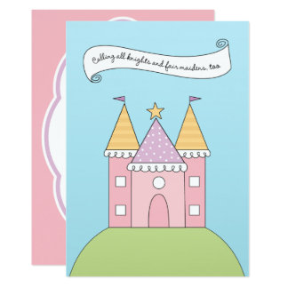 Carte Princesse rose de l'invitation | d'anniversaire