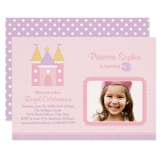 Carte Princesse rose de l'invitation | de fête