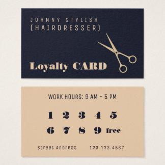 Carte professionnelle moderne de fidélité de style