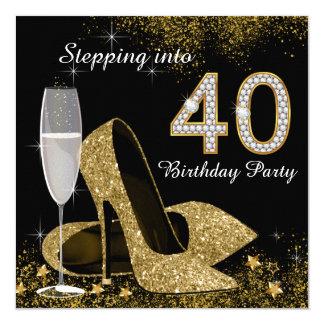 Carte Progression dans la fête d'anniversaire 40