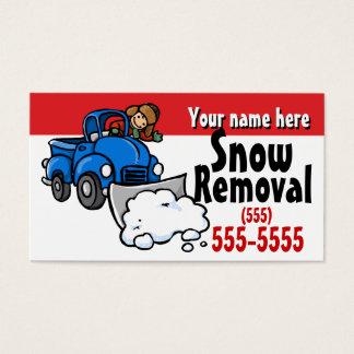 Carte promotionnelle d'enlèvement de la neige