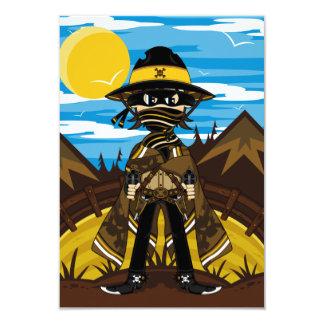 Carte proscrite du cowboy RSVP Carton D'invitation 8,89 Cm X 12,70 Cm