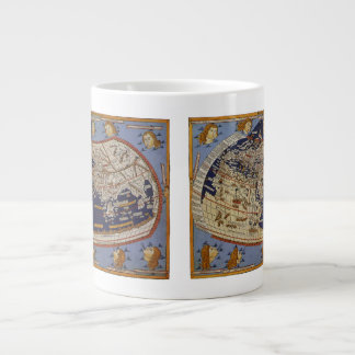 Carte Ptolemaic antique vintage du monde, 1482 Mug Jumbo