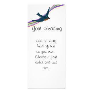 Carte Publicitaire Arc-en-ciel et oiseaux bleus gais