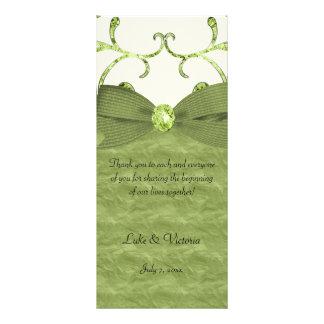 Carte Publicitaire Arc vert de remous de pastel et de diamant et