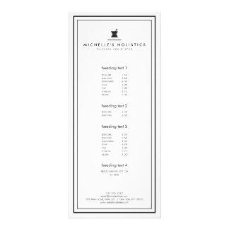 Carte Publicitaire Blanc holistique de médecine d'apothicaire