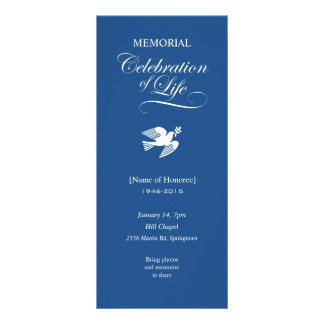 Carte Publicitaire Célébration commémorative d'invitation de colombe