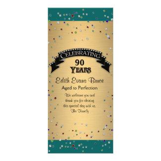 Carte Publicitaire Célébration de fête d'anniversaire de confettis de