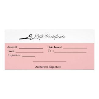 Carte Publicitaire Certificat-prime de ciseaux
