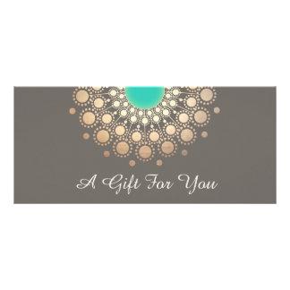 Carte Publicitaire Certificat-prime floral de mandala d'or et de