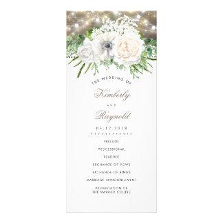 Carte Publicitaire Fleurs blanches chics de pays rustique épousant