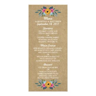 Carte Publicitaire La collection florale rustique de mariage de