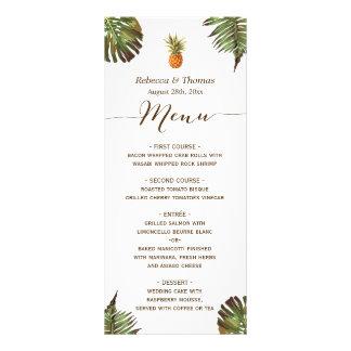 Carte Publicitaire L'ananas tropical Luau de feuille a dénommé le