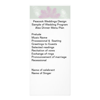 Carte Publicitaire Le paon lilas et blanc fait varier le pas   du