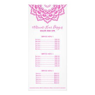 Carte Publicitaire Mandala rose