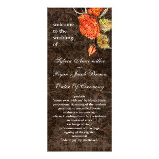 Carte Publicitaire Mariage rose de cru chic rustique de Brown