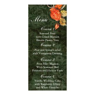 Carte Publicitaire Mariage rose de cru vert chic rustique