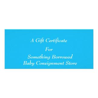 Carte Publicitaire Modèle bleu de certificat-prime de réception au