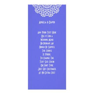 Carte Publicitaire Motif de dentelle blanc assez bleu Peronalized