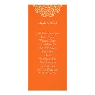 Carte Publicitaire Motif de dentelle d'or orange de Brown