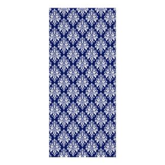 Carte Publicitaire Motif élégant de damassé de bleu marine et de