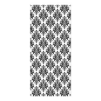 Carte Publicitaire Motif noir et blanc élégant de damassé
