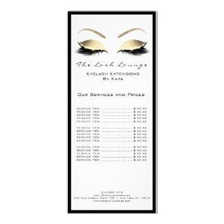 Carte Publicitaire Noir Eyebrown d'or blanc de nom de salon de beauté