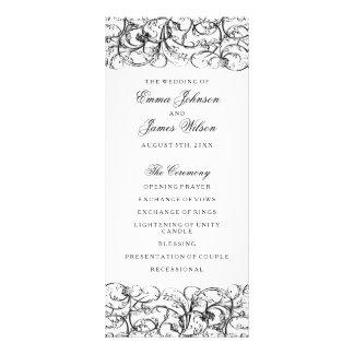 Carte Publicitaire Remous noirs et blancs élégants épousant le