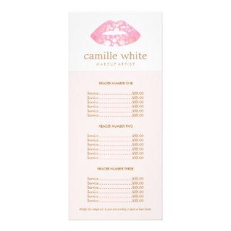 Carte Publicitaire Rose de maquilleur et listes des prix roses de