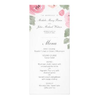 Carte Publicitaire Roses roses romantiques d'aquarelle épousant le