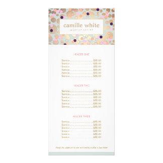 Carte Publicitaire Salon de beauté de motif de cercles et de