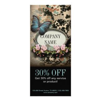 Carte Publicitaire Salon de beauté floral vintage de SPA de papillon