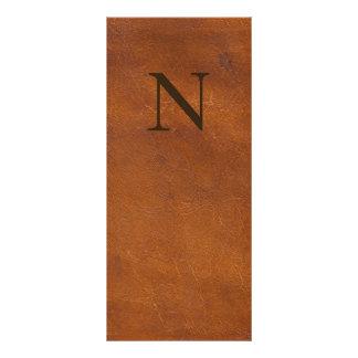 Carte Publicitaire Texture en cuir de Brown de Faux