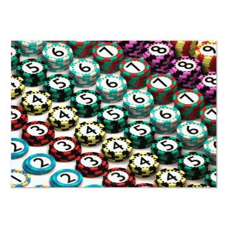 Carte Puce de casino empilée dans le motif de l'ordre de
