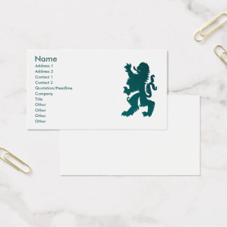 Carte puissante de profil de lion