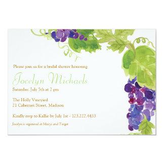Carte Raisins à l'invitation de partie de vigne