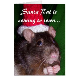 Carte : Rat de Père Noël