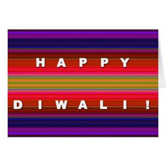 Carte rayée colorée de Diwali