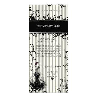 Carte rayée tourbillonnée noire et blanche de