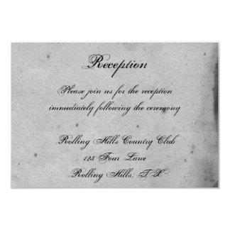 Carte Réception de mariage snob de hibou gothique