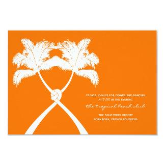 Carte Réception de mariage tropicale de plage de