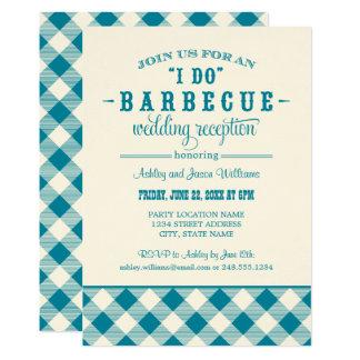 Carte Réception de mariage turquoise | je fais le BBQ