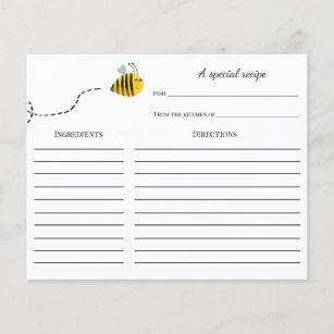 Carte Recette Fête de l'mariée d'abeilles
