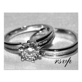 Carte réglée de l'anneau de noces de diamant RSVP