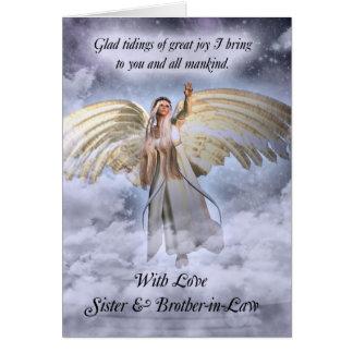 Carte Relig de soeur et de Noël d'ange de