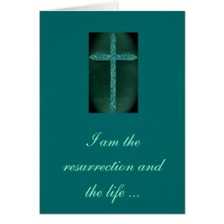Carte religieuse de condoléance
