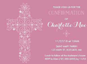 Invitations Faire Part Cartes Sacrement Confirmation Zazzle Fr